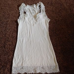 Mossimo supply white lace lined tank top